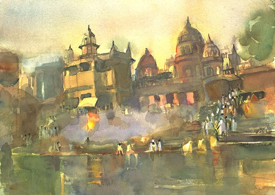 River Ganges Scene