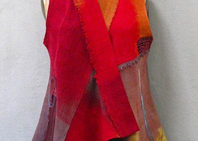 EF Vest Tibetan Red